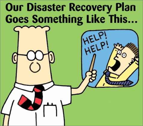Our Disaster Recovery Plan Goes Something Like THis