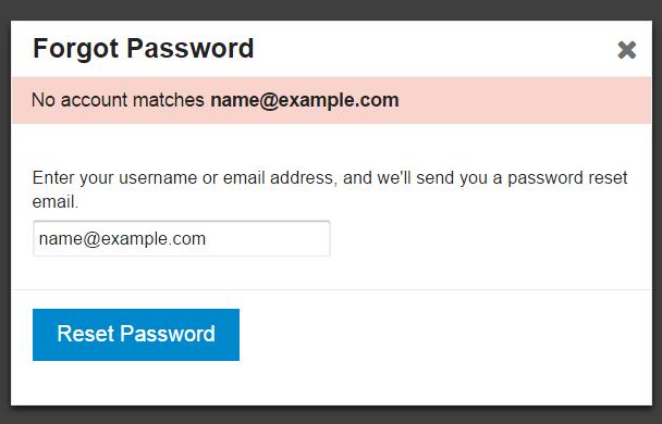 sign forgot password