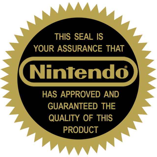 This seal is your assurance that Nintendo has approved and guaranteed the quality of this product