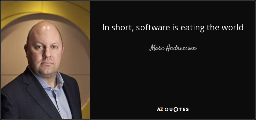 software is eating the world, Marc Andreessen