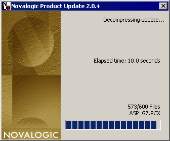 screenshot of novalogic product update