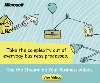 Microsoft Rube Goldberg style ad
