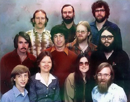 Microsoft group photo, December 1978