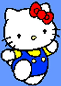 Hello Kitty, enlarged 300% using Bicubic Filtering