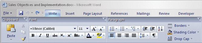 Microsoft Word 12