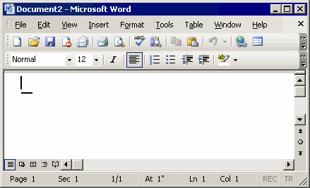 Microsoft Word 2003 - New Document