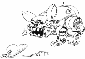 illustration from Man-Eating Rabit BASIC game listing