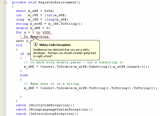 The 'shitty code' exception