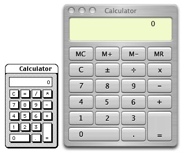 Mac OS calculators