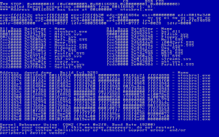 Windows NT 3.1 BSOD