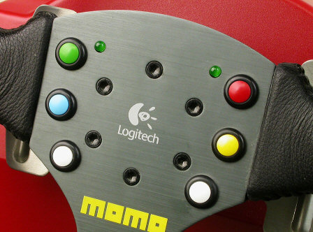 Logitech MOMO Force closeup