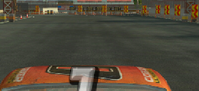 Flatout screenshot detail, 16x anisotropic filtering