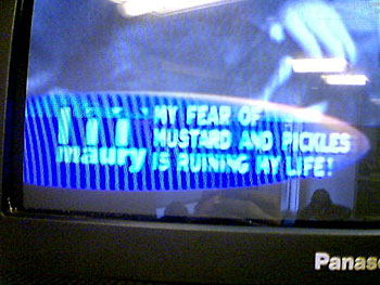 The Maury Povich Show: My Fear of Mustard and Pickles is Ruining my Life