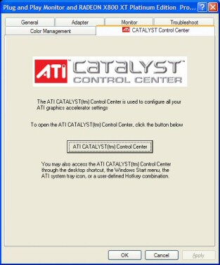 ATI Catalyst launcher