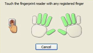 Microsoft Fingerprint Reader UI