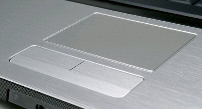 touchpad pointing device closeup