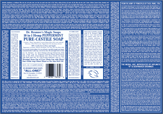 dr bronner peppermint soap label small