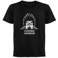 Coding Horror black t-shirt front