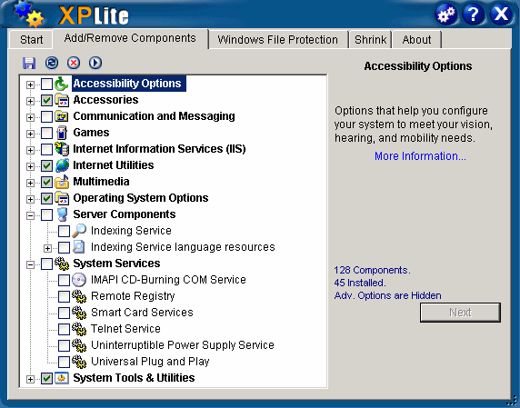 XPlite Screenshot