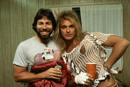 Steve Wozniak and David Lee Roth