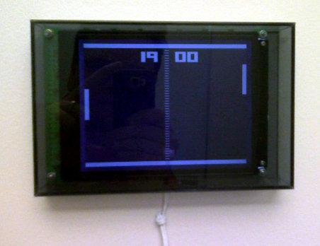 Office, closeup of pong clock