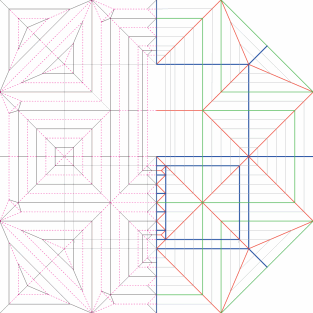 Origami spider crease pattern
