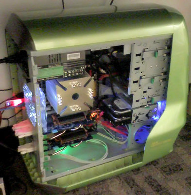 Wumpus PC at Vertigo, under desk