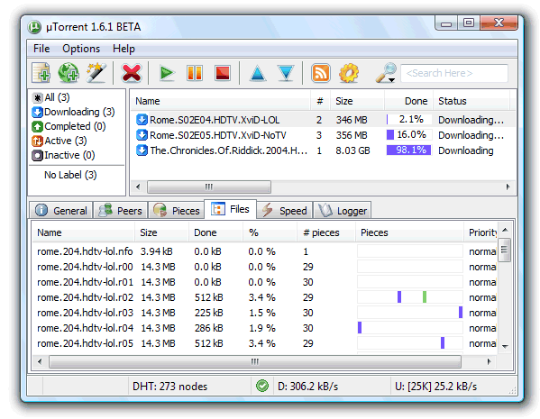 Torrent Windows UI