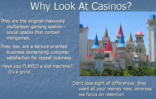 slide from What Vegas Can Teach MMO Designers