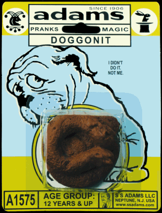 S.S. Adams gag fake dog poo 'Doggonit'