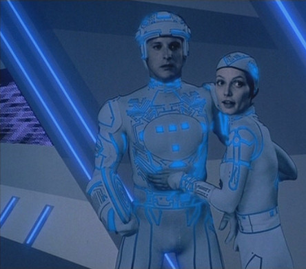 A still from the movie TRON