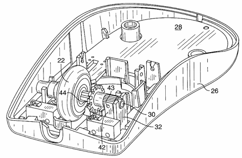 mouse wheel patent figure