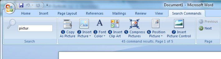 Office 2007 search feature codename 'scout'