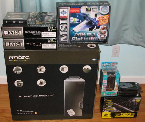 PC build, pile o' parts