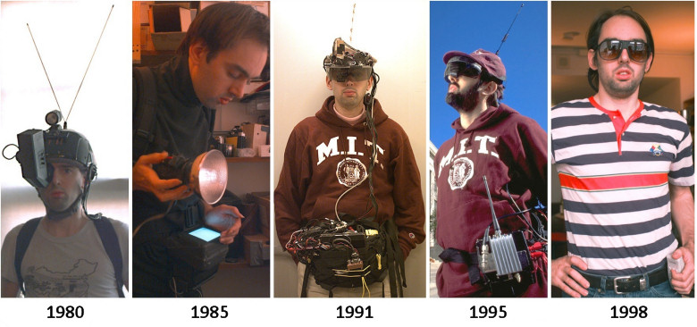 Steve Mann, wearable computers from 1980-1998