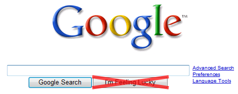 Google: I'm not feeling so lucky.