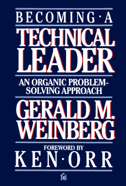 book cover of Jerry Weinberg's Becoming a Technical Leader
