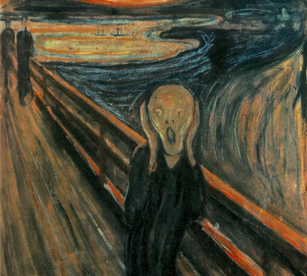 detail of Edward Munch painting, The Scream
