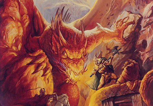 Dungeons and Dragons rulebook detail