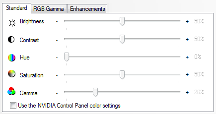 nvidia video color settings