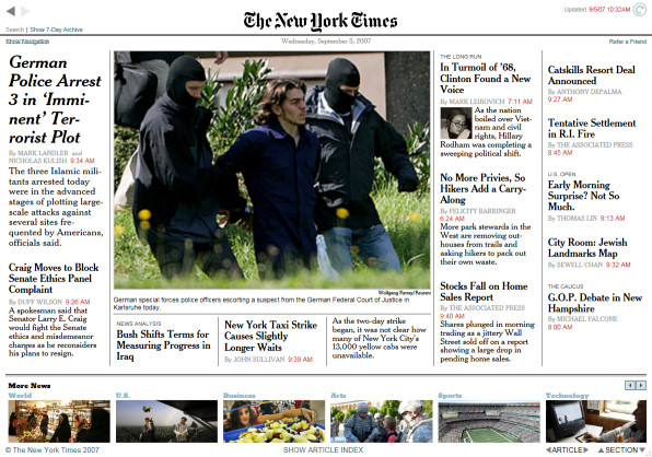 New York Times Reader screenshot