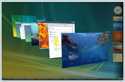 Windows Vista Flip3D