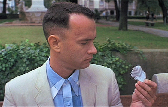 Forrest Gump and the Feather