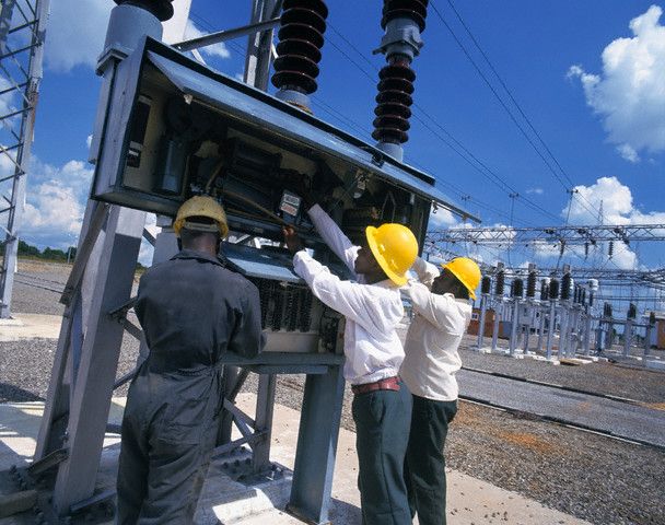 infrastructure, an electrical substation