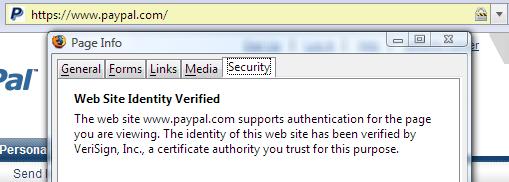 Certificate info in Firefox 2.0