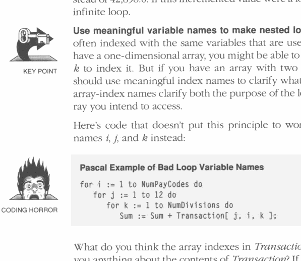 Excerpt from the book 'Code Complete', page 340