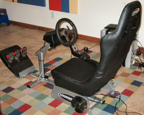 racing simulation rig, overview shot