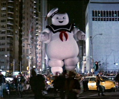 Stay-Puft marshmallow man, from Ghostbusters