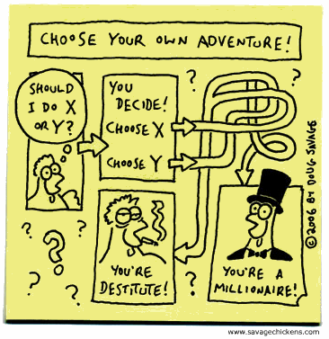 Savage Chickens: Choose your own adventure!