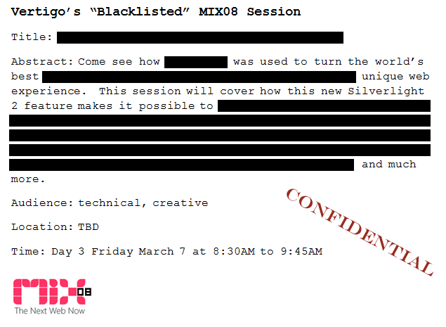 mix08: Vertigo's blacklisted session